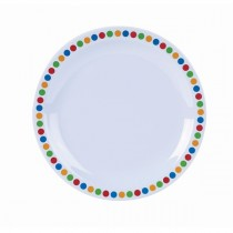 Genware Melamine Narrow Rim Plate Coloured Circles 16cm/6.25