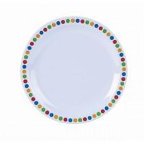 Genware Melamine Narrow Rim Plate Coloured Circles 16cm/6.25