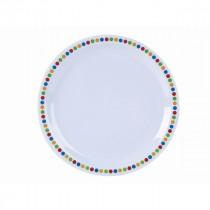 """Genware Melamine Narrow Rim Plate Coloured Circles 23cm/9"""""""