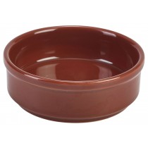 {Genware Terracotta Round Tapas Dish 10cm}