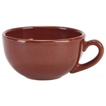 Terra Stoneware Rustic Bowl Shaped Cup Red 30cl-10.5oz