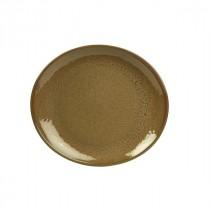 "Terra Stoneware Brown Oval Plate 29.5cm/11.6"""