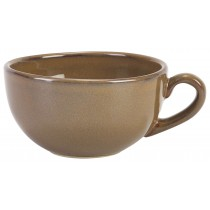 Terra Stoneware Rustic Bowl Shaped Cup Brown 30cl-10.5oz