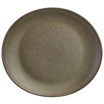 """Terra Stoneware Oval Plate Antigo 25cm-9.75"""""""