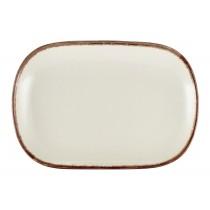Terra Stoneware Rectangular Plate Sereno Brown 24x16.5cm