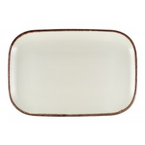 Terra Stoneware Rectangular Plate Sereno Brown 34.5x23.5cm