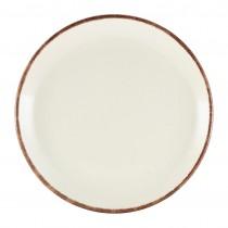 """Terra Stoneware Coupe Plate Sereno Brown 19cm-7.5"""""""