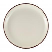 """Terra Stoneware Coupe Plate Sereno Brown 24cm-9.25"""""""