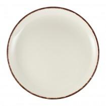 """Terra Stoneware Coupe Plate Sereno Brown 27.5cm-10.75"""""""