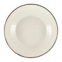 "Terra Stoneware Coupe Bowl Sereno Grey 27.5cm-10.75"""