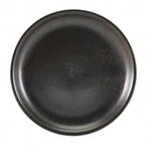 """Terra Porcelain Coupe Plate Black 19cm-7.5"""""""