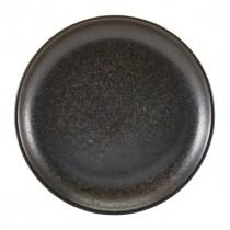 """Terra Porcelain Coupe Plate Black 24cm-9.4"""""""