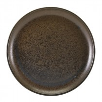 """Terra Porcelain Coupe Plate Black 27.5cm-10.8"""""""