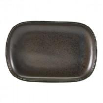 "Terra Porcelain Rectangular Plate Black 24x16.5cm-9.4x6.5"""
