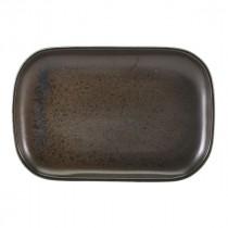 "Terra Porcelain Rectangular Plate Black 29x19.5cm-11.4x7.7"""