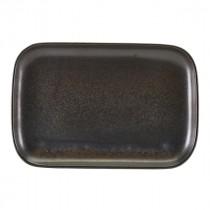 "Terra Porcelain Rectangular Plate Black 34.5x23.5cm-13.6x9.25"""