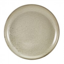 "Terra Porcelain Coupe Plate Grey 24cm-9.4"""