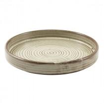 "Terra Porcelain Presentation Plate Grey 18cm-7.1"""