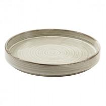 "Terra Porcelain Presentation Plate Grey 21cm-8.25"""