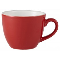 {Genware Bowl Shaped Cup Red 9cl/3oz}
