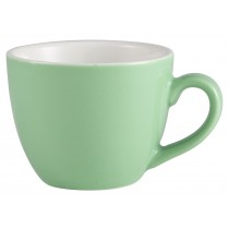 {Genware Bowl Shaped Cup Green 9cl/3oz}