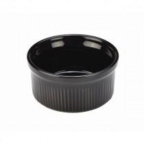 "Genware Stoneware Smooth Ramekin Black 8cm /3"""