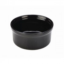 Genware Stoneware Smooth Ramekin Black 17cl-6oz 9.5cm-3.75""