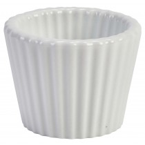 Genware White Ramekin Fluted 45ml/1.5oz