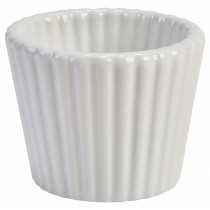 Genware White Ramekin Fluted 85ml/3oz