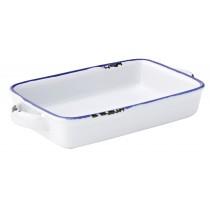 "Utopia Avebury Blue Rectangular Dish 17.5cm/6.75"""