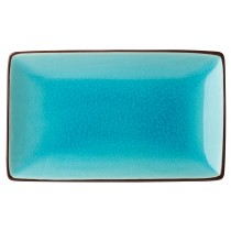 "Utopia Soho Aqua Rectangular Plate 21x14cm/8.5x5.5"""