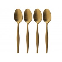 "{La Cafetiere Brushed Gold Tea Spoon 6.75""}"