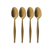 La Cafetiere Brushed Gold Espresso Spoon 6""