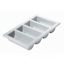 Berties 4 Compartment Cutlery Tray Grey GN 1/1