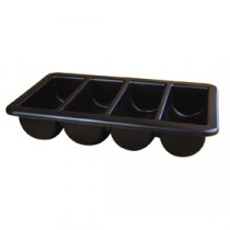 Berties 4 Compartment Cutlery Tray Black GN 1/1