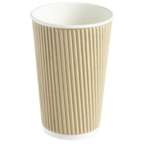 Berties Kraft Ripple Cup 45cl/16oz