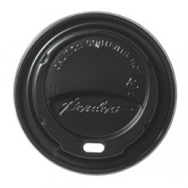 Berties Domed Lid for Hot Cup Black 12/16oz