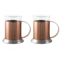 La Cafetiere Copper & Glass Cups 20cl/6.5oz