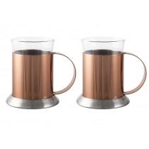 La Cafetiere Copper & Glass Cups 20cl/6.5oz