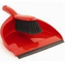 Berties Dustpan & Brush Red