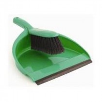 Berties Dustpan & Brush Green