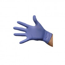 Berties Latex Gloves Powdered Blue Large