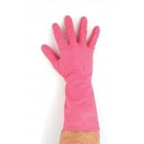 Berties Rubber Multi Purpose Gloves Pink Large
