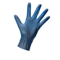 Berties Vinyl Gloves Lightly Powdered Blue Small