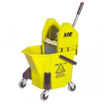SYR TC20 Mop Bucket & Wringer Yellow 20Ltr