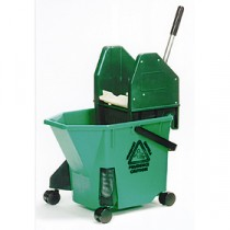 SYR TC20 Mop Bucket & Wringer Green 20Ltr