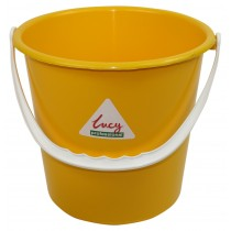 Berties Round Bucket Yellow 9Ltr