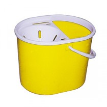 Berties Standard Oval Mop Bucket Yellow 15Ltr