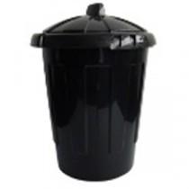 Berties Dustbin with Lid Black 80L