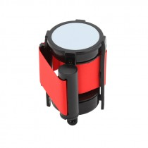 Berties Barrier Post with Retractable 2m Red Belt